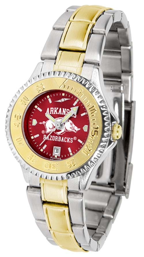Arkansas Razorbacks Competitor AnoChrome Ladies Watch with Two-Tone Band