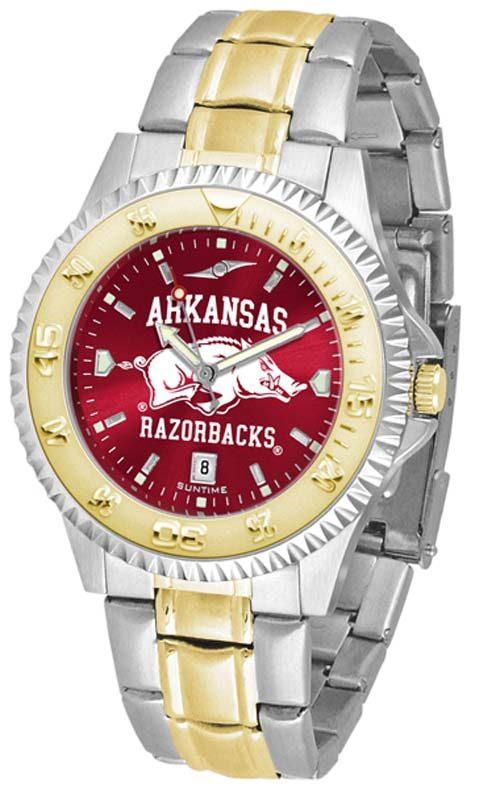 Arkansas Razorbacks Competitor AnoChrome Two Tone Watch