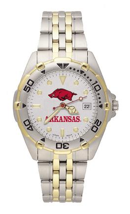 "Arkansas Razorbacks ""Razorback"" All Star Watch with Stainless Steel Band - Men's"
