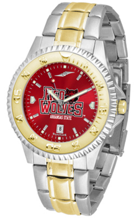 Arkansas State Red Wolves Competitor AnoChrome Two Tone Watch