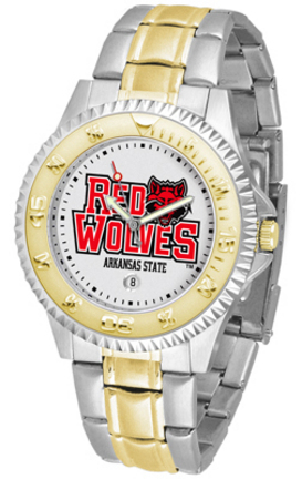 Arkansas State Red Wolves Competitor Two Tone Watch