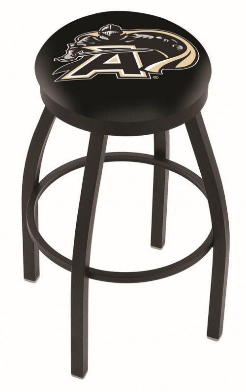 "Army Black Knights (L8B2B) 25"" Tall Logo Bar Stool by Holland Bar Stool Company (with Single Ring Swivel Black Solid Welded Base)"