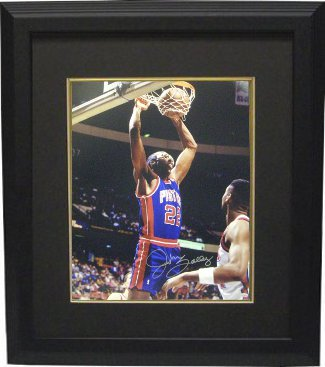 Athlon CTBL-BB14058 John Salley Signed Detroit Pistons Photo Custom Framed - 8 x 10