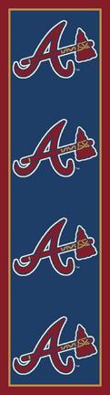 "Atlanta Braves 2' 1"" x 7' 8"" Team Repeat Area Rug Runner"