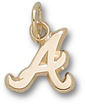 "Atlanta Braves ""A"" 3/8"" Charm - 14KT Gold Jewelry"