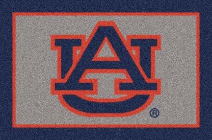"""Auburn Tigers """"AU"""" 3'10""""x 5'4"""" Team Spirit Area Rug"""