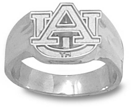 """Auburn Tigers """"AU"""" Ladies' Ring Size 8 - Sterling Silver Jewelry"""