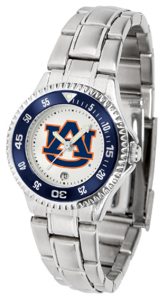 Auburn Tigers Competitor Ladies Watch with Steel Band