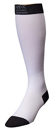 BSN Medical 7769602 15 - 20 mm NV - X Sport Socks for Men White & Black - Large