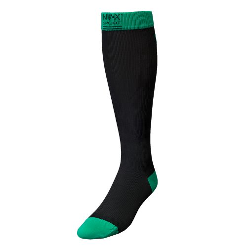 BSN Medical 7769628 15 - 20 mm NV - X Sport Socks for Men Black & Green - Extra Large