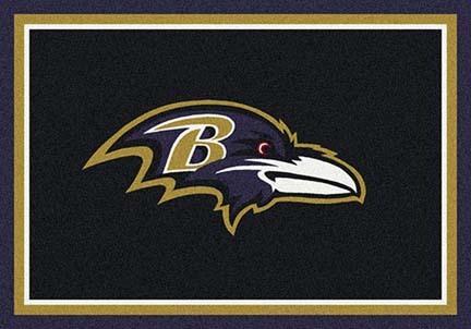 "Baltimore Ravens 3' 10"" x 5' 4"" Team Spirit Area Rug (Black)"