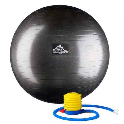 Black Mountain Products 75cm Blue Gym Ball 75 cm. Static Strength Exercise Stability Ball Blue