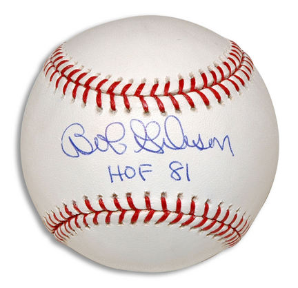"Bob Gibson Autographed Baseball Inscribed with ""HOF 81"