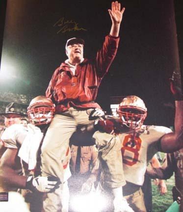 "Bobby Bowden Autographed FSU Seminoles 16"" x 20"" ""Shoulders"" Photograph (Unframed)"