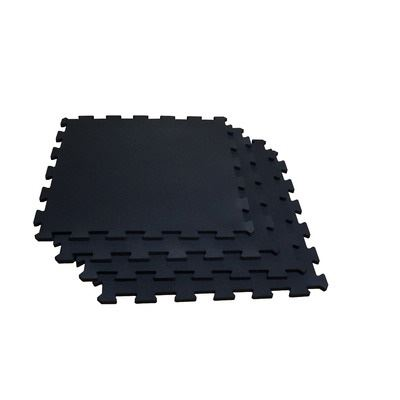 Body Solid RF4PMB 4 Piece Puzzle Mat with 19.5 in. Square & 0.37 in. Thick Black
