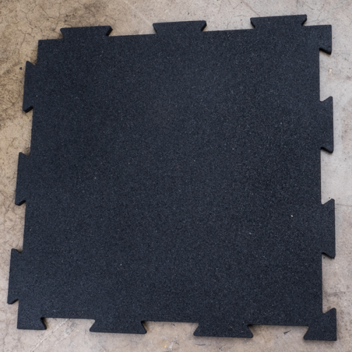 Body Solid RFBST4PB 4 Piece Puzzle Mat with 19.7 in. Square & 0.43 in. Thick Black