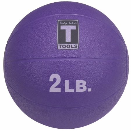 Body Solid Tools BSTMB2 2 lbs. Purple Medicine Ball