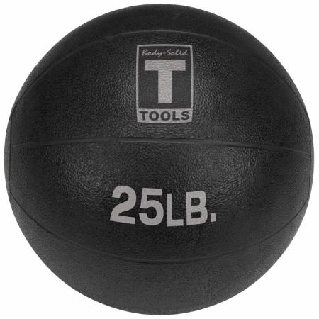Body Solid Tools BSTMB25 25 lbs. Black Medicine Ball
