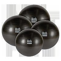 Body Sport BDS6PF45AB Eco Series Exercise Ball 6P Anti-Burst Black - 45 cm