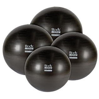 Body Sport BDS6PF75AB Eco Series Exercise Ball 6P Anti-Burst Black - 75 cm