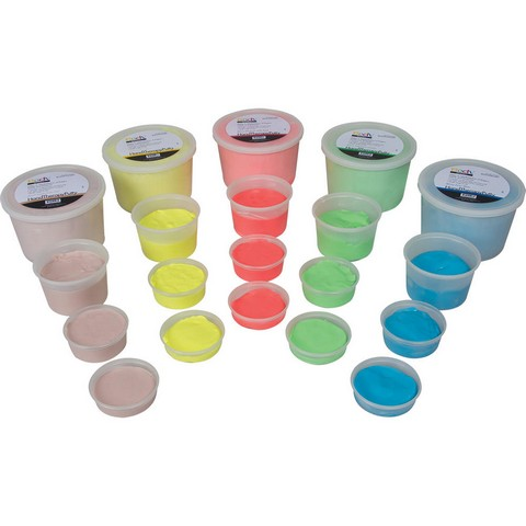 Body Sport BDSHPCUP Hand Exercise Putty Empty 2-4 oz Cups with Lids Pack of 25