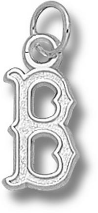 "Boston Red Sox 1/2"" ""B"" Charm - 14KT White Gold Jewelry"