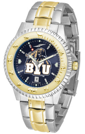 Brigham Young (BYU) Cougars Competitor AnoChrome Two Tone Watch