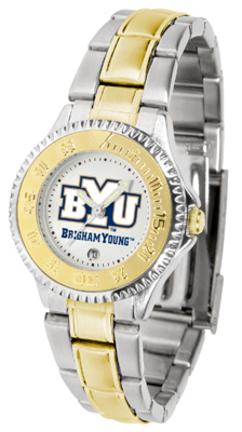 Brigham Young (BYU) Cougars Competitor Ladies Watch with Two-Tone Band