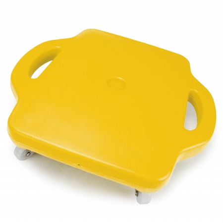Brybelly Holdings SGYM-203 16in Gym Class Scooter Board with Safety Handles - Yellow