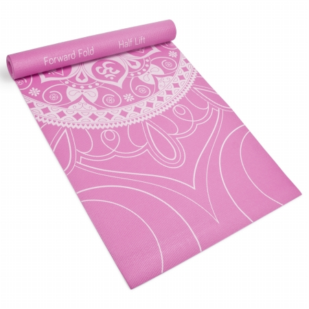 Brybelly Holdings SYOG-075 3 mm Coral Premium Printed Yoga Mat
