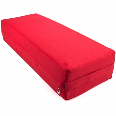 Brybelly Holdings SYOG-573 26 in. Yoga Bolster & Meditation Pillow Red - Large