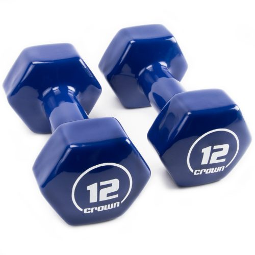 Brybelly SWGT-808 12 lbs Vinyl Hex Hand Weights
