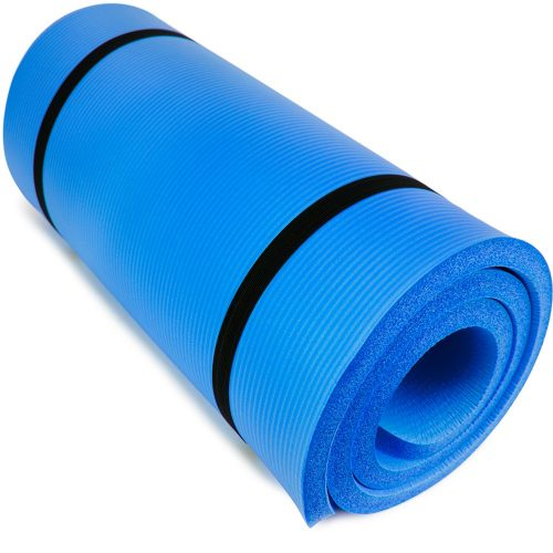 Brybelly SYOG-093 Ultra Thick 1 in. Yoga Cloud Blue
