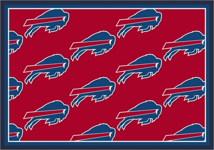 "Buffalo Bills 3' 10"" x 5' 4"" Team Repeat Area Rug (Red)"