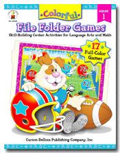 CARSON DELLOSA CD-104049 COLORFUL FILE FOLDER GAMES GRADE 1