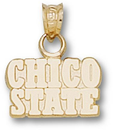 """California State (Chico) Wildcats """"Chico State"""" 5/16"""" Pendant - 10KT Gold Jewelry"""