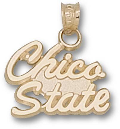 "California State (Chico) Wildcats Script ""Chico State"" 1/2"" Pendant - 10KT Gold Jewelry"