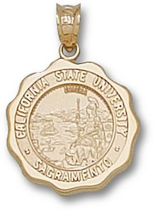 "California State (Sacramento) Hornets ""Seal"" Pendant - 10KT Gold Jewelry"
