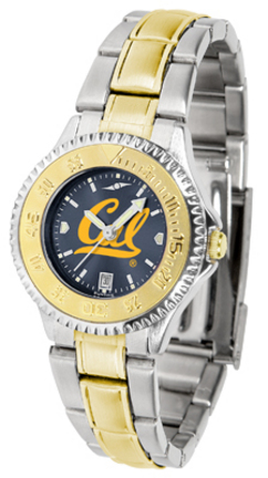 California (UC Berkeley) Golden Bears Competitor AnoChrome Ladies Watch with Two-Tone Band