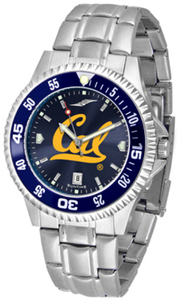 California (UC Berkeley) Golden Bears Competitor AnoChrome Men's Watch with Steel Band and Colored Bezel