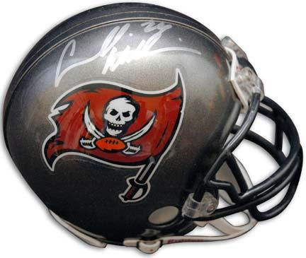 """Carnell """"Cadillac"""" Williams Autographed Tampa Bay Buccaneers Riddell Mini Helmet"""