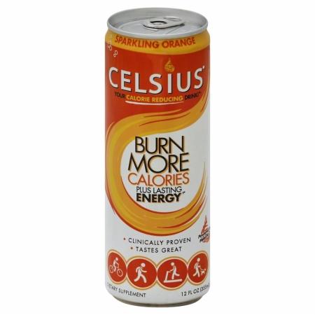 Celsius 146522 Sparkling Orange Energy Drink - 12 oz.