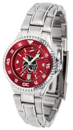 Central Washington Wildcats Competitor AnoChrome Ladies Watch with Steel Band and Colored Bezel