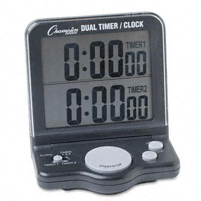 Champion Sport DC100 Dual Timer/Clock with Jumbo 1 Display