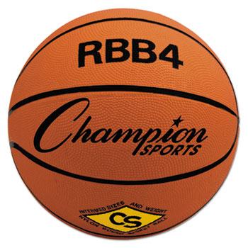 Champion Sport RBB4 Rubber Sports Ball For Basketball No. 6 Intermediate Size Orange