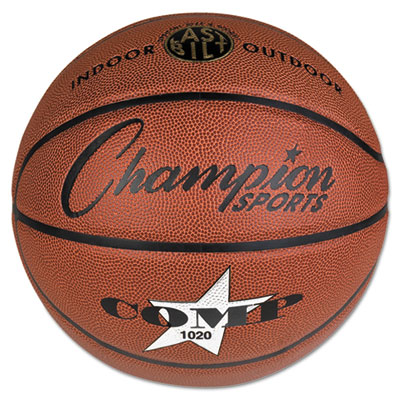 Champion Sport SB1020 Composite Basketball Official Size 30 in. Brown