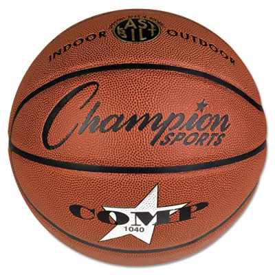 Champion Sport SB1040 Composite Basketball Official Junior 27.75 in. Brown