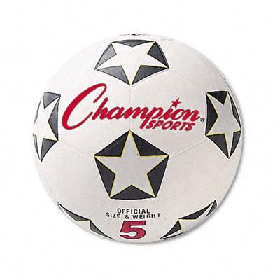 Champion Sport SRB5 Soccer Ball Rubber/Nylon 6 White/Black