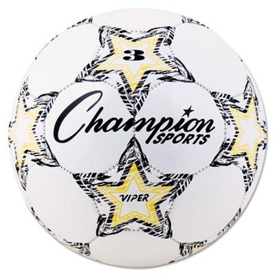 Champion Sport VIPER3 VIPER Soccer Ball Size 3 White
