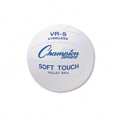 Champion Sport VR4 Volleyball Rubber/Nylon Official Size White